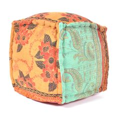 Kantha Embroidered Pouf