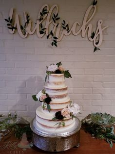 """Custom """"cottage foods"""" cake studio offering one on one planning, delicious flavors, and amazing designs. Rustic Style, Cake Recipes, Wedding Cakes, Naked, Desserts, Beautiful, Wedding Gown Cakes, Tailgate Desserts, Deserts"""