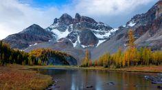 1920x1080 Wallpaper mountain, river, snow, winter