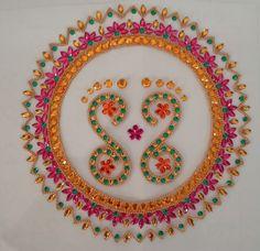 Acrylic Rangoli, Diwali Craft, Rangoli Designs, Home Crafts, Projects To Try, Plate, Craft Ideas, Diy, House