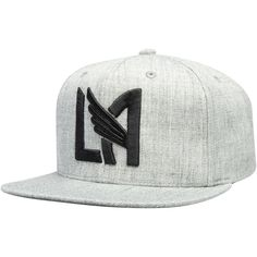 Men s LAFC Mitchell   Ness Gray Logo Snapback Adjustable Hat 89412eb6e2d0