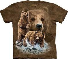 Find 10 Brown Bears - The Mountain - Koszulka z misiami - www.veoveo.pl