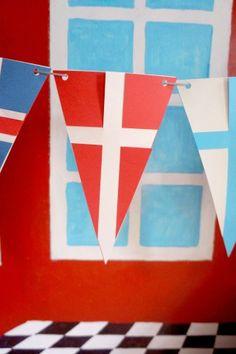 Scandinavian Flag Garland | PaperMatrix