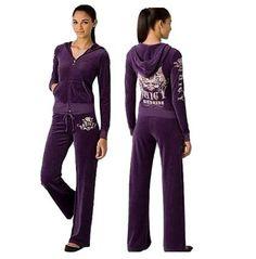 Juicy Couture Velour Scottie Tracksuits-Purple Purple Velvet 1ba96ca07ad4