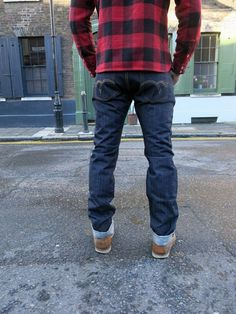 The Flat Head 1001 Jean -16oz. 100% cotton selvedge denim Slims/traight fit, Crafted in Japan