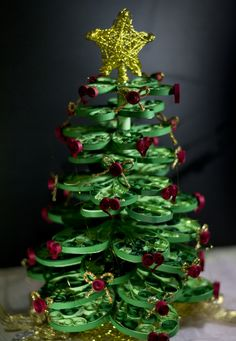 quilling; christmas tree;