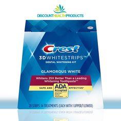 100% Genuine Factory Sealed Box! ✅😁 Crest Whitestrips, Whitening Kit, White Strips, Dental, How To Apply, Glamour, Box, Health, Snare Drum