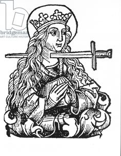 Lucy from 'Liber Chronicarum' by Hartmann Schedel (woodcut) Medieval Tattoo, Medieval Drawings, Medieval Art, Art And Illustration, Occult Art, Arte Popular, Grafik Design, Gouache, Dark Art