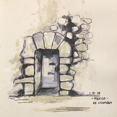 Yesterday I didn't create one of my #fearlesspaintings. Instead I did create this quick little sketch of a confessional that was at the ruins of an old 17th century convent right outside Oaxaca City. I must say that as beautiful as this structure is (I'll share a photo of it in my next post) I can't help but feel sadness & even despair knowing it was created through colonization. Through men from distant lands coming & taking without asking ( & with horrible force & violence) what is not…
