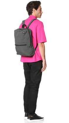 Jack Spade Packable Graph Check Backpack