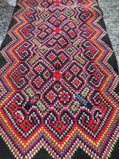 Vintage Hmong Fabric, handmade tapestry textiles, hill tribal fabrics from Thailand. $24.00, via Etsy.