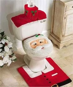 Penguin Toilet Lid Cover & Rug Set | All Things Penguin | Pinterest ...
