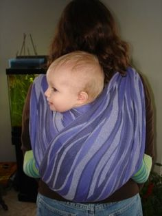 Getting ideas for baby carrying on my back!  Should be helpful during our camping weekend!