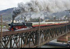 RailPictures.Net Photo: 41-360 Deutsche Bundesbahn Steam 2-8-2 at Bullay, Germany by Fabrice Lanoue