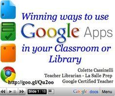 Integrating Google Tools 4 Teachers | Learning, Education, and Neuroscience | Scoop.it