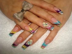 ♥ Acrylics - Colorful Zebra Nails    ...BTW,Please Check this out:  http://artcaffeine.imobileappsys.com