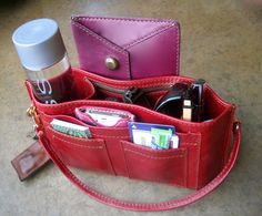 Handbag Organizer Purse Insert Leather by MomentumHandbag, $82.00