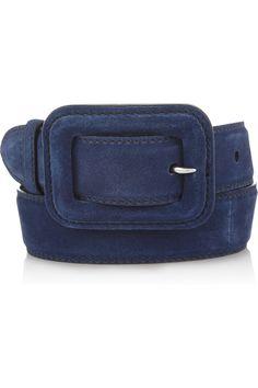Miu Miu|Suede waist belt|NET-A-PORTER.COM