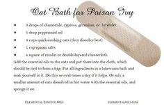 DIY Oat bath for poison ivy