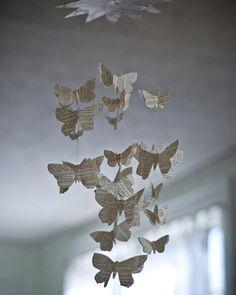 newspaper butterflies. cute