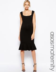 ASOS+Maternity+Bodycon+Dress+With+Pephem