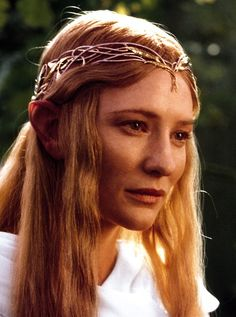 Cate Blanchett as Galadriel. I have to do her someday since people say we look so much alike:) She is so elegant.
