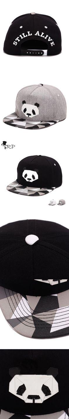2016 New 3 D Panda Embroidery Hip Hop Flat Snapback Hat classic mens & women new designer adjustabl cap ducks bboy baseball Caps