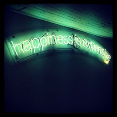 Alejandro Díaz: «Happiness is Expensive Giacometti, University, Happiness, Neon Signs, Happy, Instagram Posts, Art, Viajes, Kunst