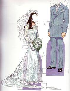 "Bride & Groom 1970s*1500 free paper dolls at Arielle Gabriel""s The International Paper Doll Society and free Chinese Japanese paper dolls at The China Adventures of Arielle Gabriel *"