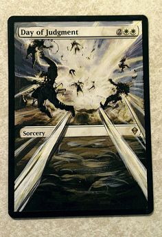 MTG altered art Day of Judgement magic the by WallqvistStudio http://www.squidoo.com/magic-the-gathering-altered-art-cards #mtg #magic #magicthegathering #painting #alteredart