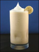 Hungry Girl's Thick & Creamy Banana Caramel Smoothie (w/ light soy, ff pudding, etc.)