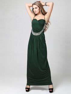 A Line Halter Ankle Length Green Evening Dress Affordable Evening Gowns, Evening Dresses Online, Quinceanera Dresses, Homecoming Dresses, Wedding Dresses, Green Evening Dress, Beautiful Gowns, Special Occasion Dresses, Ankle Length