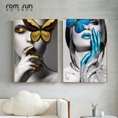 Cheap abstract wall art, Buy Quality art pictures directly from China wall art picture Suppliers: Abstract Wall Art Pictures Fashion Woman butterfly Lips Gold And White Black Modern Home Canvas Painting Beauty Decor Posters Modern Art Pictures, Black Art Pictures, Wall Art Pictures, Painting Pictures, Butterfly Painting, Butterfly Art, Butterfly Fashion, Art Mural Fashion, Art Papillon