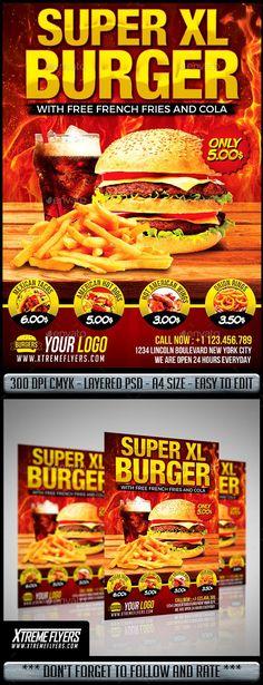 Restaurant Poster, Burger Restaurant, Fruit Soup, Italian Menu, Roll Up Design, Fast Food Menu, Free In French, Flyer Layout, Menu Template