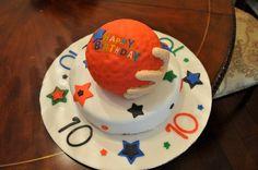 dodgeball cake (gaga ball, too)