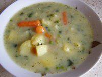 krémová polievka z mrazenej zeleniny