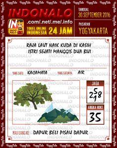 Colok Jitu Togel Wap Online Live Draw 4D Indonalo Yogyakarta 30 September 2016
