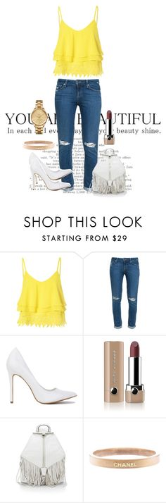 """Shine Bright"" by agnes-adellina on Polyvore featuring Glamorous, Paige Denim, Marc Jacobs, Rebecca Minkoff, Chanel and Lacoste"