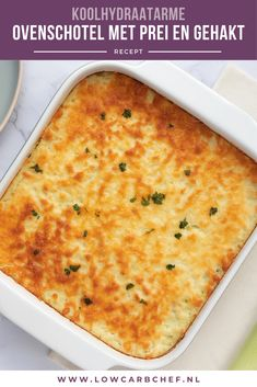 Oven dish with leek and minced meat - With this recipe you can put an oven dish with leek and minced meat on the table in no time. Super Healthy Recipes, Healthy Meals For Kids, Healthy Chicken Recipes, Low Carb Recipes, Healthy Snacks, Fish Recipes, Easy Snacks, Easy Meals, Atkins