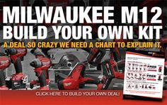 Build Your Own Milwaukee M12 Combo Kits