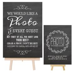 Vintage Shabby Chalkboard Style Metal Photo Booth Sign & Easel for Wedding Props in Home, Furniture & DIY, Wedding Supplies, Other Wedding Supplies | eBay