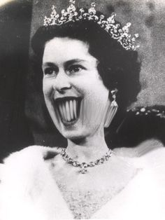 """Queen Elizabeth II Weegee (Arthur Fellig)/International Center Of Photography/Getty Images Photographs for """"Distortions"""" series, a project that resulted… Distortion Photography, Distortion Art, Art Optical, Optical Illusions, Andy Warhol, Elizabeth Ii, Weegee, Beautiful Dark Art, Mona Lisa"""