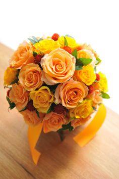 バラ オレンジ黄色