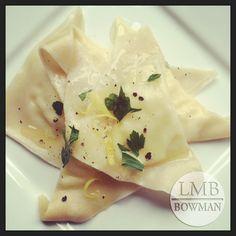 Lemon ricotta ravioli (using wonton wrappers)