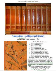 Australians : A Historical library - Fairfax, Syme & Weldon Associates World, Books, Beautiful, Libros, Book, Book Illustrations, Libri, Peace, The World