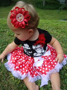 I had a Minnie outfit as a little girl and I want my little girl (s) to have one too
