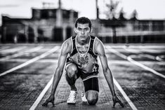 high school, track and field, senior, black and white