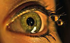ресницы, макро, глаз, зрачок, macro, капля, вода