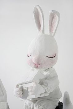 pappmache bunny by lulubaozi, via Flickr