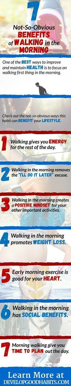 Top health and fitness benefits of walking in the mornings.